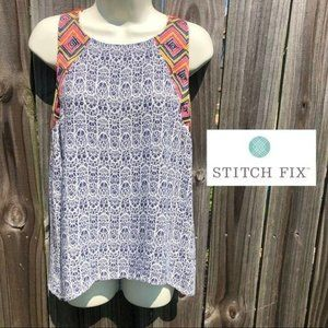 NWT Stitch Fix THML Embroidered Blouse S